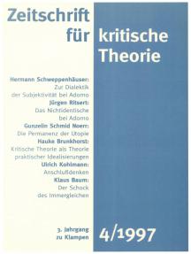 Zeitschrift für kritische Theorie / Zeitschrift für kritische Theorie, Heft 4: 3. Jahrgang (1997)