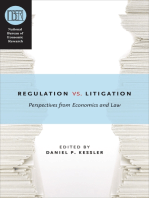 Regulation versus Litigation: Perspectives from Economics and Law