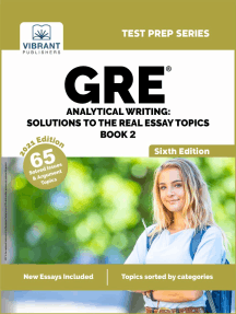 GRE Analytical Writing: Solutions to the Real Essay Topics - Book 2 (Sixth Edition)