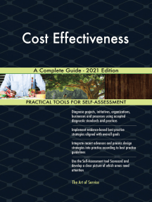 Cost Effectiveness A Complete Guide - 2021 Edition