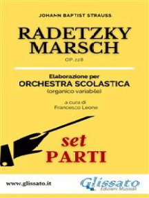 Radetzky Marsch - orchestra scolastica smim/liceo (set parti): Op.228