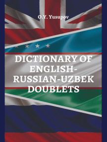 Dictionary of English – Russian – Uzbek doublets