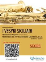 I Vespri Siciliani - Sax Quartet (score)