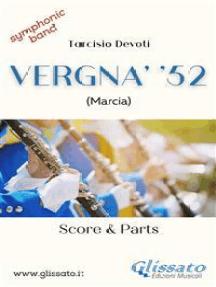 Vergna' '52 (score & parts ): Marcia per banda