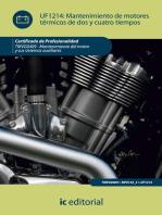 Mantenimiento de motores térmicos de dos y cuatro tiempos. TMVG0409: Mantenimiento del motor y sus sistemas auxiliares
