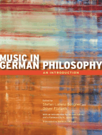 Music in German Philosophy