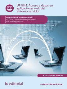 Acceso a datos en aplicaciones web del entorno servidor. IFCD0210