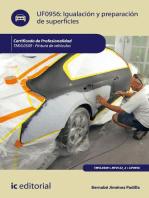 Igualación y preparación de superficies. TMVL0509