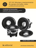 Montaje y mantenimiento de equipos de audio, video y telecomunicaciones. TMVG0209