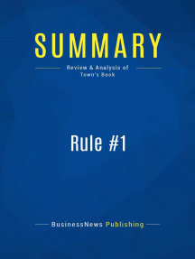 Summary: Rule #1: Review and Analysis of Town's Book