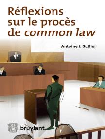 Réflexions sur le procès de common law