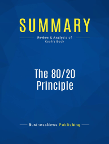 Summary: The 80/20 Principle: Review and Analysis of Koch's Book