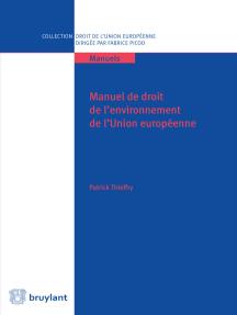 Manuel de droit de l'environnement de l'UE