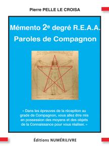 Mémento 2e degré du R.E.A.A.: Paroles de Compagnon