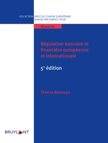 Régulation bancaire et financière européenne et internationale: 5e édition