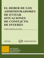 El deber de los administradores de evitar situaciones de conflicto de interés