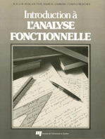 Introduction à l'analyse fonctionnelle