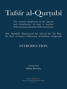 Tafsir al-Qurtubi - Introduction: The General Judgments of the Qur'an and Clarification of what it contains of the Sunnah and āyahs of Discrimination