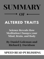 Summary Of Altered Traits By Daniel Goleman and Richard J. Davidson Science Reveals How Meditation Changes your Mind, Brain, and Body