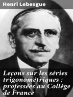 Leçons sur les séries trigonométriques : professées au Collège de France