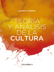 Teoría y análisis de la cultura: Volumen II.