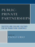 Public-Private Partnerships: Success and Failure Factors for In-Transition Countries