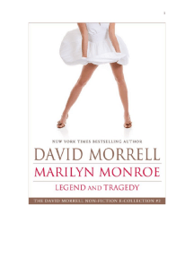 Marilyn Monroe: Legend and Tragedy, an essay (The David Morrell Cultural-Icon Series) by David Morrell